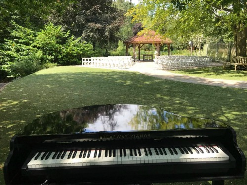 Andrea Lamballe Wedding Pianist - Set Up For Outdoor Wedding Ceremony